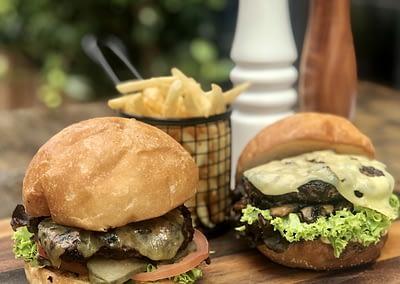 Classic and Truffle Swiss Melt Burgers