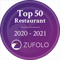 Top 50 Restaurant Award - #14 in Auckland, ZUFOLO, 2020-2021