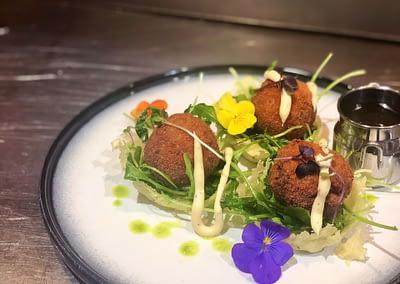 Rabbit and Shiitake Meatballs