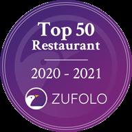 Top 50 Restaurant Award - #14 in Auckland, ZUFOLO, 2020-2021